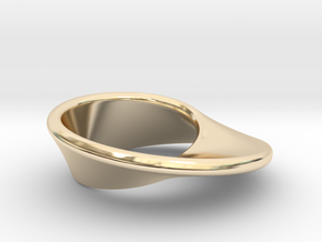 Moebius Band in 14k Gold Plated Brass