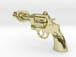 KnotN2Guns Pendant in 18K Gold Plated