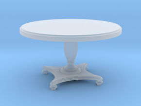1:48 Round Colonial Dining Table in Smooth Fine Detail Plastic