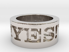 Yes! Ring Design Ring Size 8.5 in Rhodium Plated Brass