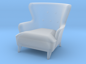 1:48 Wingback Barrel Chair in Smooth Fine Detail Plastic