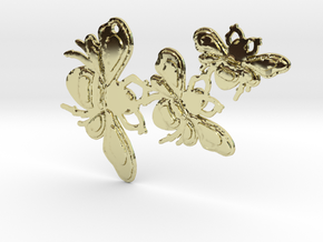 Three Bees Large Pendant in 18K Gold Plated