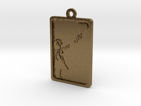 Banksy Girl With Balloon Pendant in Natural Bronze