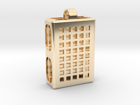 Pixels Hidden Letter [customizable] in 14k Gold Plated Brass