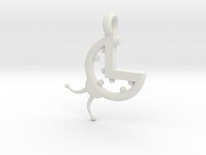 La Coccinella - Logo 3D portachiavi in White Natural Versatile Plastic
