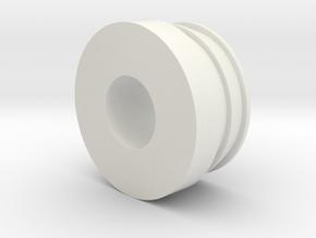 MGA Stroke Tube End Cap in White Strong & Flexible