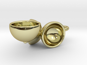 Akorn shells in 18K Gold Plated