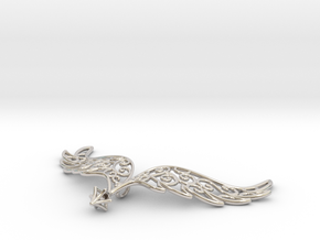 Angel Wings Pendant - precious metals in Rhodium Plated Brass