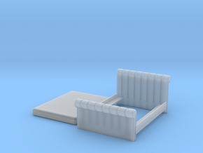 1:48 Tufted Bed (Queen) in Smooth Fine Detail Plastic
