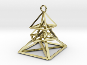 Hovering Pieces Christmas Tree Earrings in 18K Gold Plated