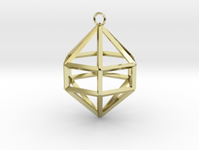 Gem Ornament in 18K Gold Plated