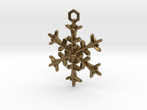 Snowflake Charm in Natural Bronze