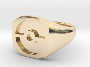 Pokeball Ring-Wide Band (Edit size in description) in 14k Gold Plated Brass