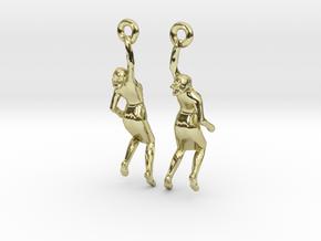 Earrings 'Golden lady' in 18K Gold Plated