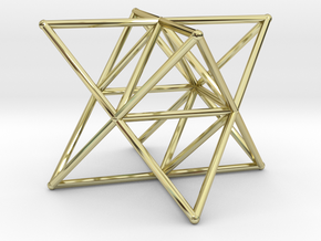 Rod Merkaba Supports 2cm in 18K Gold Plated