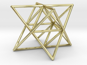 Rod Merkaba Supports 6cm in 18K Gold Plated