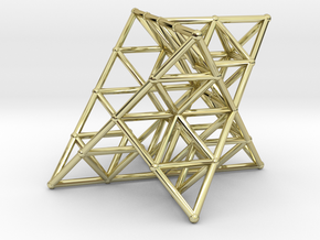 Rod Merkaba Lattice OpenBase 2cm in 18K Gold Plated