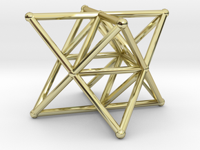 Rod Merkaba Supports 4cm in 18K Gold Plated