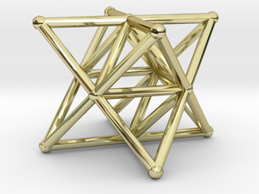 Rod Merkaba Supports 3cm in 18K Gold Plated