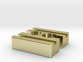Brio F-F Connector 40mm With Marking in 18K Gold Plated