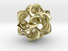 Icosahedron I, medium in 18K Gold Plated