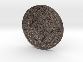 Mephistopheles Coin in Polished Bronzed Silver Steel