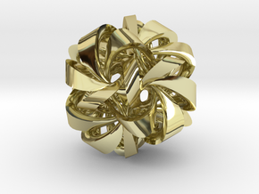 Icosahedron VII, medium in 18K Gold Plated