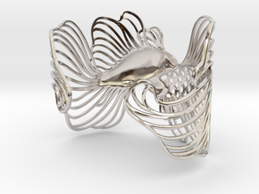 Pisces all sizes in Rhodium Plated Brass: Extra Small