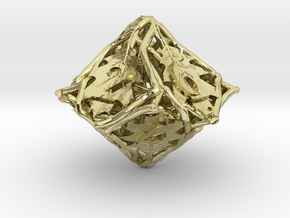 Botanical d10 Ornament in 18K Gold Plated