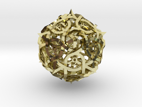 Thorn d20 Ornament in 18K Gold Plated