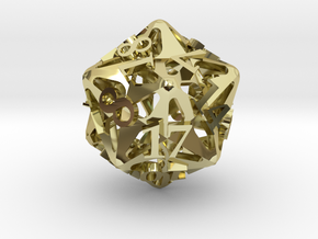 Pinwheel d20 Ornament in 18K Gold Plated