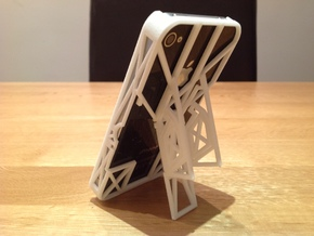 iPhone 4 / 4s Case with Flip Out Stands - TriStand in White Strong & Flexible