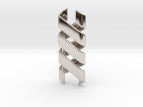 Helix Pendant & Bracelet in Rhodium Plated Brass