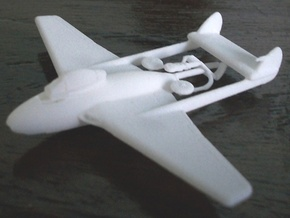 015B - DH Vampire FB.6 - 1/144 - WSF in White Natural Versatile Plastic