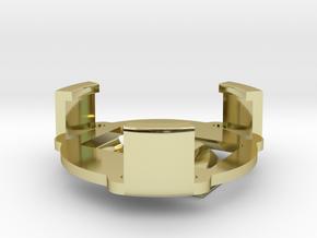 Clip-3-prong in White Natural Versatile Plastic