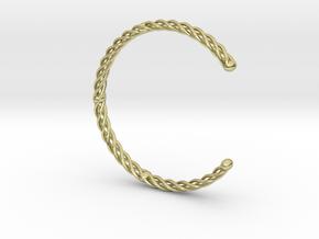 Spiral Bracelet Cuff Medium in 18K Gold Plated