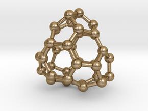 0041 Fullerene c36-13 d3h in Polished Gold Steel