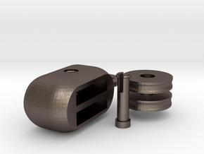 hoist pulley block ( assembling ) in Polished Bronzed Silver Steel