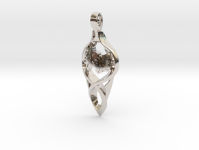 Hope in Rhodium Plated Brass