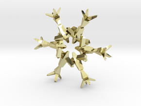 Snow Flake 6 Points B - 4.6cm in 18K Gold Plated