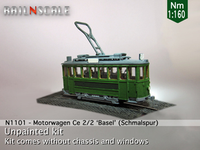 "Motorwagen Ce2/2 Nr 8""-21"" (Nm 1:160) in Smooth Fine Detail Plastic"