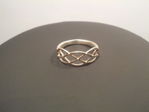 Celtic Weave Ring in Polished Silver