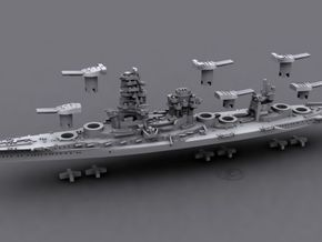 1/1800 IJN BB Hyuga[1941] in White Natural Versatile Plastic