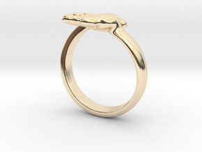 Newborn Baby hand ring in 14k Gold Plated Brass