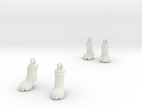 Dogfeet11 in White Natural Versatile Plastic