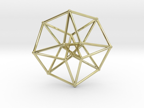 Toroidal Hypercube 35mm 1mm Time Traveller in 18K Gold Plated