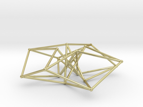 Toroidal Hypercube 80mm 1.5mm Time Traveller in 18K Gold Plated