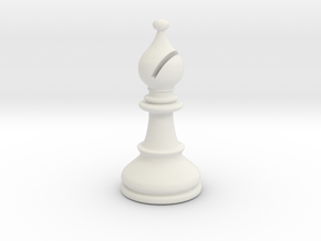 Bishop (Chess) in White Natural Versatile Plastic