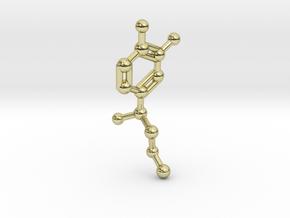 Adrenaline Molecule Keychain in 18K Gold Plated