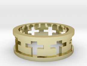 Cross Ring in 18K Gold Plated